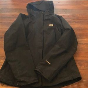 Like new Black North Face Waterproof shell